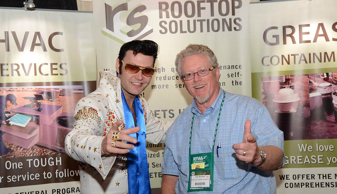 ROOFTOP SOLUTIONS/RFMA CONFERENCE LAS VEGAS 2012/PHOTOS W ELVIS